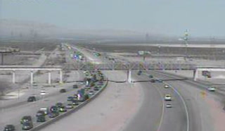 Traffic Slows to a Crawl on I-15S Near Primm