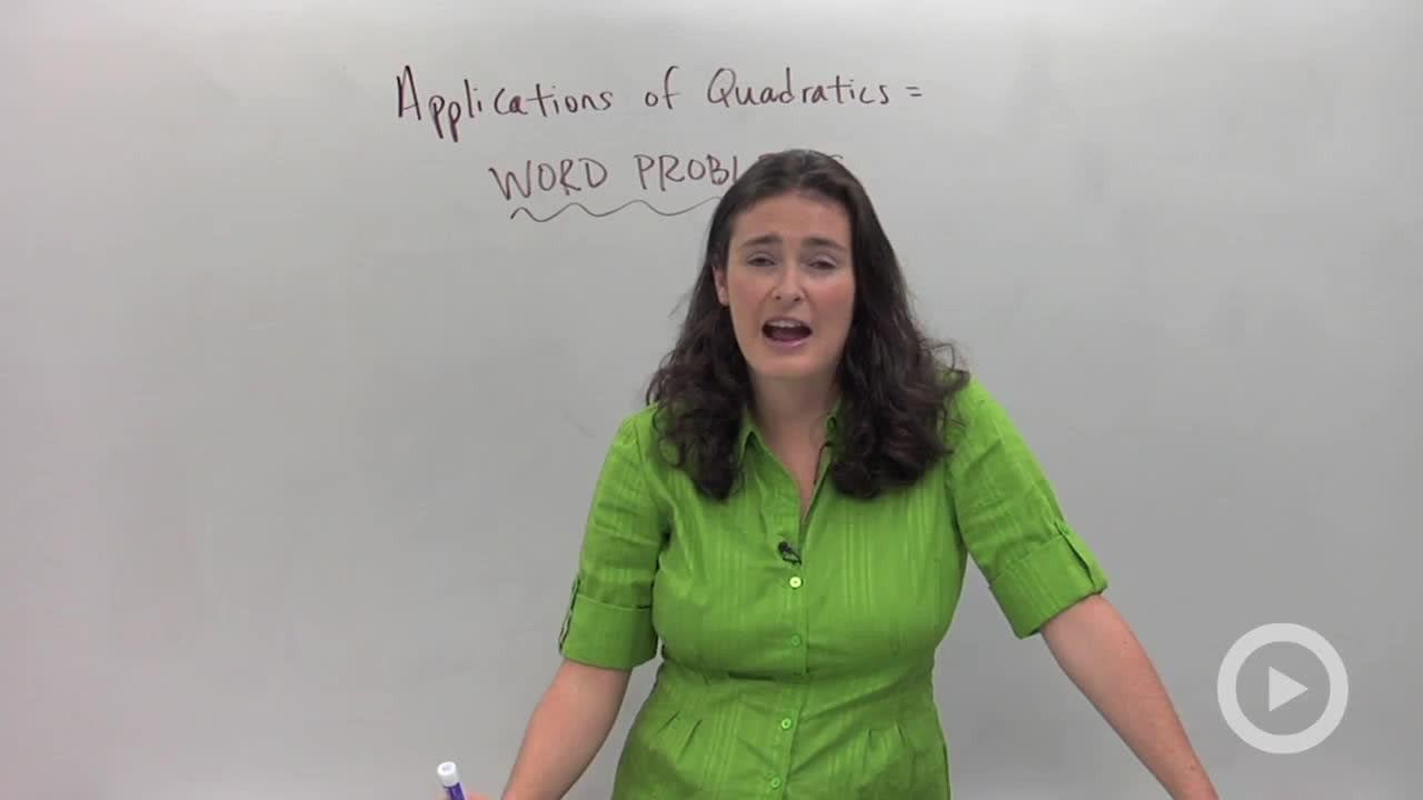 Applications of Quadratic Equations - Concept - Algebra