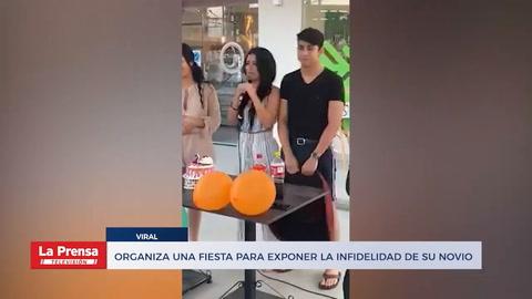 Organiza una fiesta para exponer la infidelidad de su novio