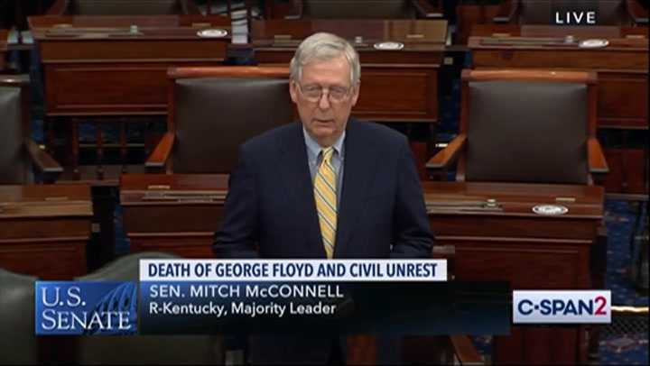 McConnell: Can't 'Deafen' Ourselves to Pain of Black Americans, Riots Inflicting 'Unjust Violence Themselves'