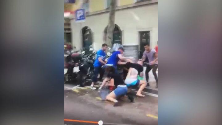 Brutal robo con violencia en el Raval de Barcelona