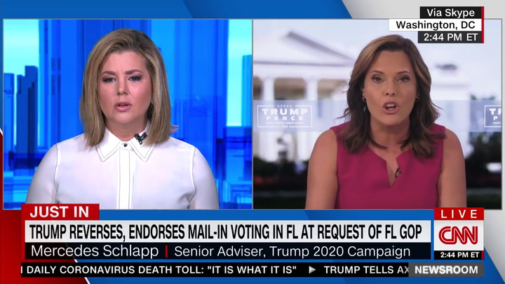 CNN's Keilar to Trump Adviser Mercedes Schlapp on Mail-in Voting: 'You're Saying a Bunch of Crap'