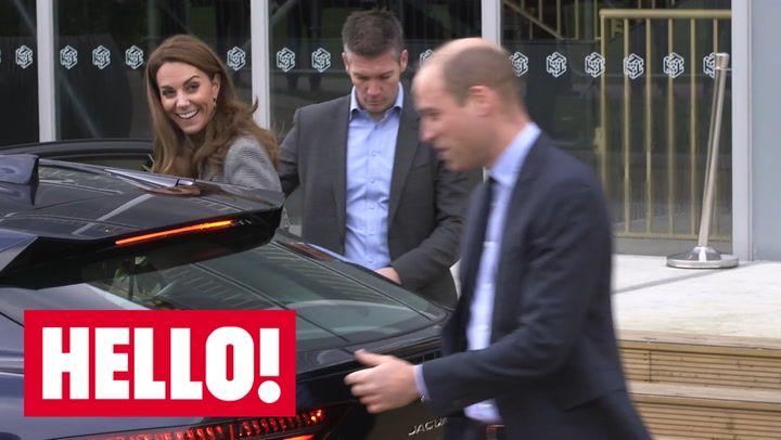 William and Kate depart meeting with crisis text service volunteers
