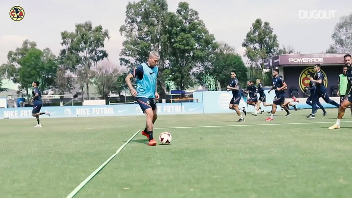 Club América prepare for game vs Cruz Azul