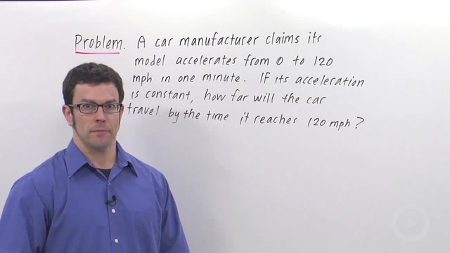 Position, Velocity and Acceleration - Problem 2