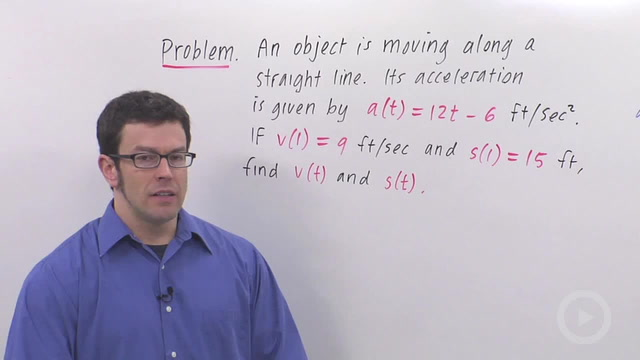 Position, Velocity and Acceleration - Problem 1