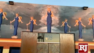 Famous Blue Angel statue commemorated in downtown Las Vegas mural