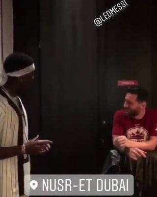 La curiosa charla de Lionel Messi y Paul Pogba en Dubai