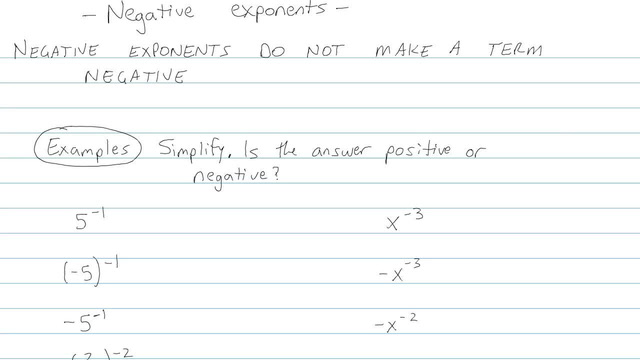 Zero and Negative Exponents - Problem 8