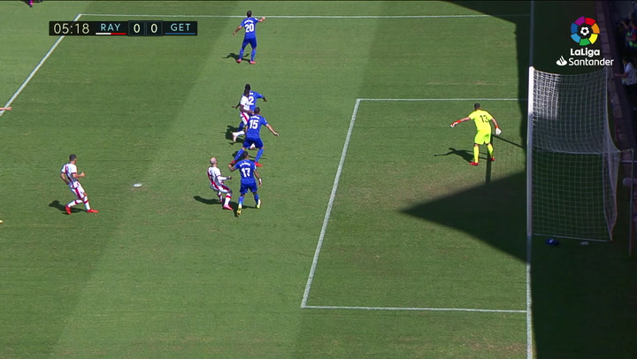 Gol de Trejo (p.) (1-0) en el Rayo Vallecano 3-0 Getafe