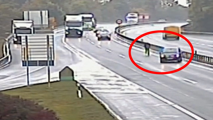 Løpsk bil skapte kaos på motorveien