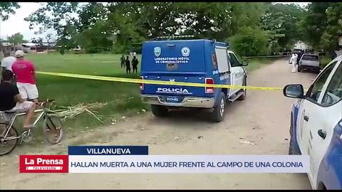 Hallan muerta a una mujer frente al campo de una colonia en Villanueva