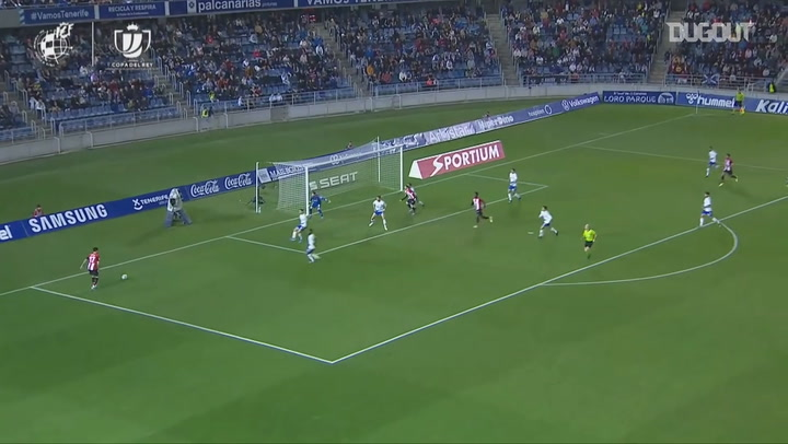 Iñaki Williams scores with his chest in the Copa del Rey