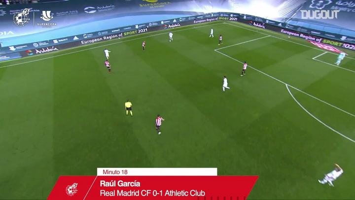 أتليتك بلباو يهزم ريال مدريد ويتأهل لنهائي كأس السوبر الأسباني