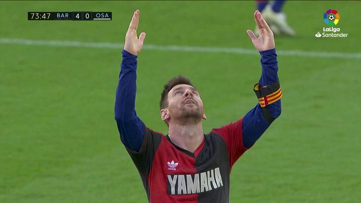 Así fue la celebración de Messi para homenajear a Maradona