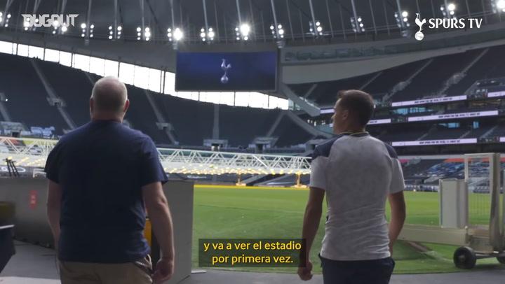 Sergio Reguilón conoce su nuevo estadio