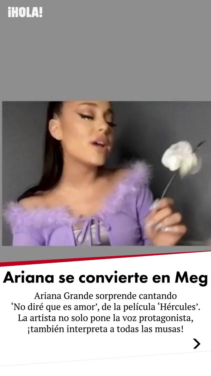 ¡Ariana Grande como una princesa Disney!