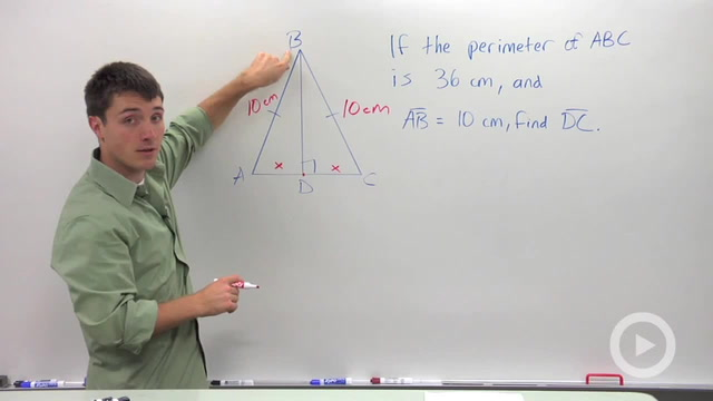 Special Isosceles Triangle Properties - Problem 1