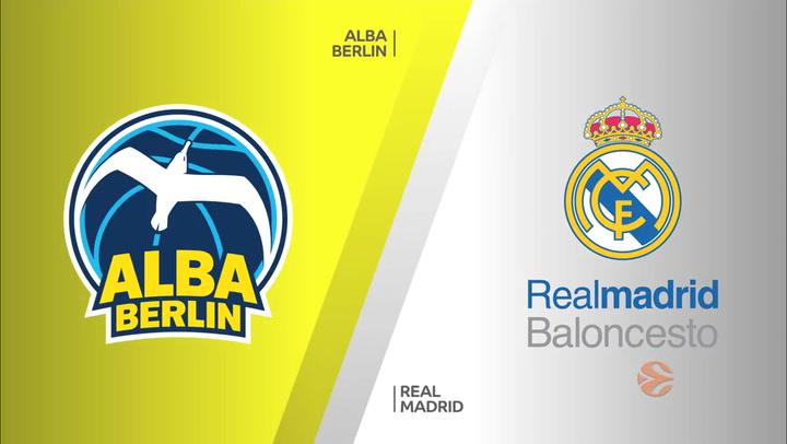 ALBA Berlin - Real Madrid: Resumen del partido de Euroliga