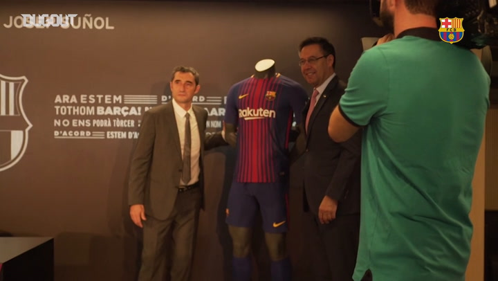 Ernesto Valverde's presentation at Barça