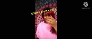 Edible + blunt + pizza