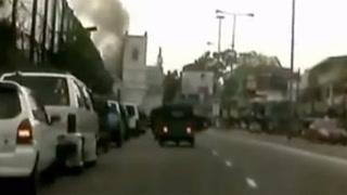 Dashbordkamera skal ha fanget opp eksplosjonen