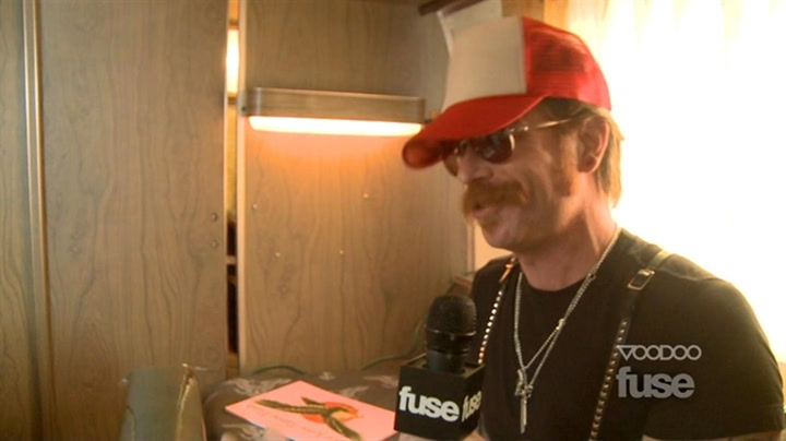Festivals: Voodoo: Boots Electric's Jesse Hughes Gets a Fuse Tattoo - Voodoo 2011