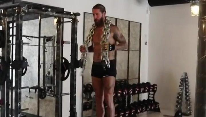 Impresionante entrenamiento de Sergio Ramos ¡encadenado!