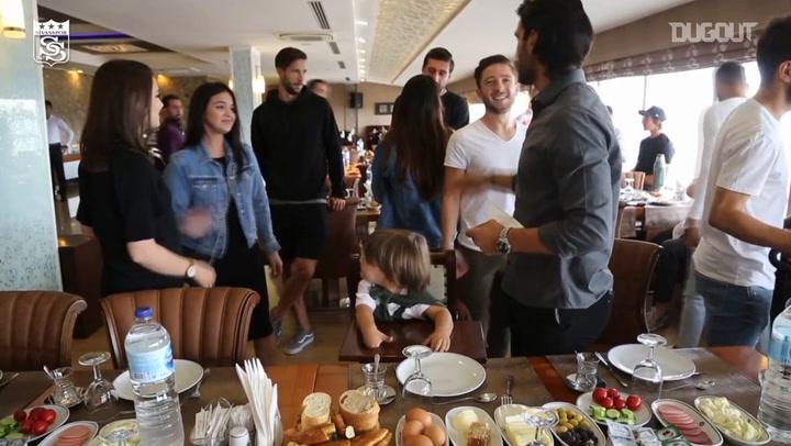 Sivasspor Players Bonding At Breakfast