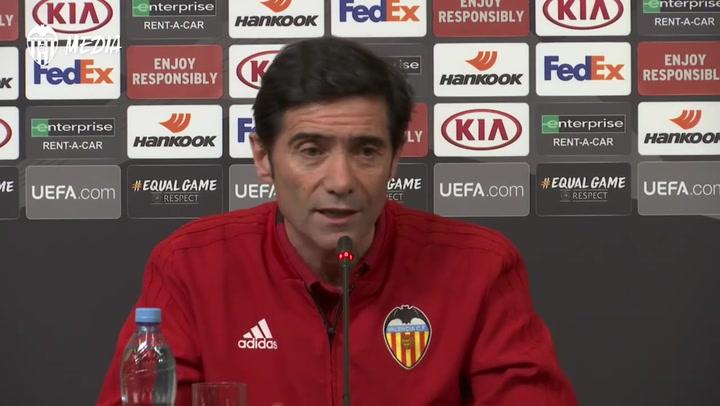 """Marcelino: """"La mejor forma de pasar la eliminatoria es intentar hacer gol"""""""