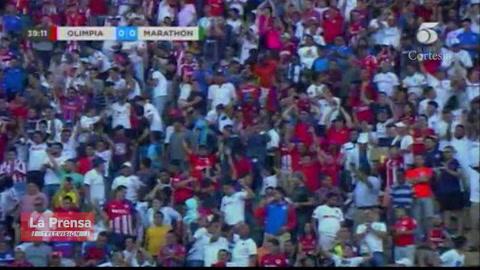 Olimpia se pone a ganar sobre Marathón con gol de José Mario Pinto