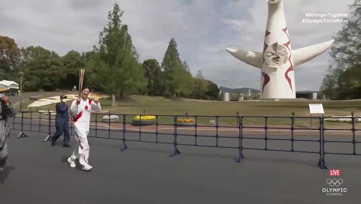 La antorcha olímpica de Tokio 2020 llega a Osaka