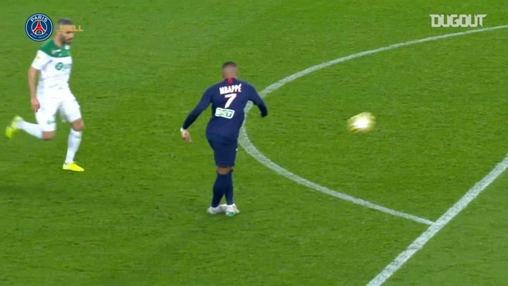 Los mejores detalles técnicos de Kylian Mbappé en la temporada 19/20