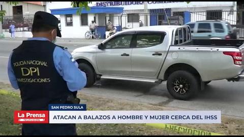 Atacan a balazos a hombre y mujer cerca del IHSS en San Pedro Sula