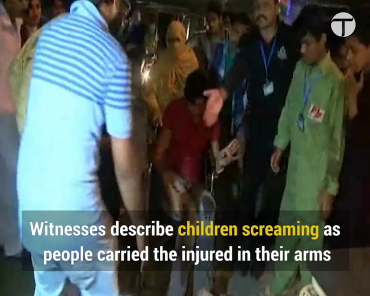 Suicide blast kills at least 72 in Lahore park