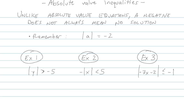 Absolute Value Inequalities - Problem 5