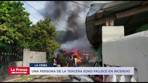 Una persona de la tercera edad fallece en incendio en La Ceiba
