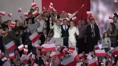 Presidente conservador de Polonia con leve ventaja en elecciones