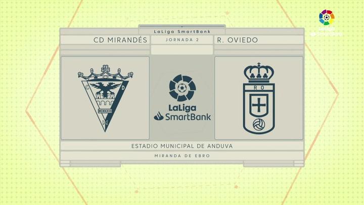 LaLiga Smartbank (Jornada 2): Mirandés 1-1 Oviedo