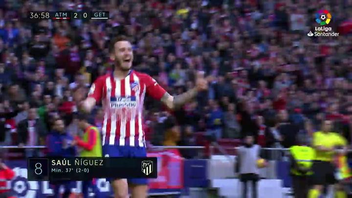 LaLiga Atlético-Getafe. Gol de Saúl Ñíguez (2-0)