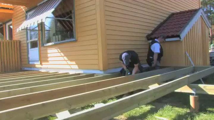 Hvordan bygge terrasse på søyler - 1 av 2