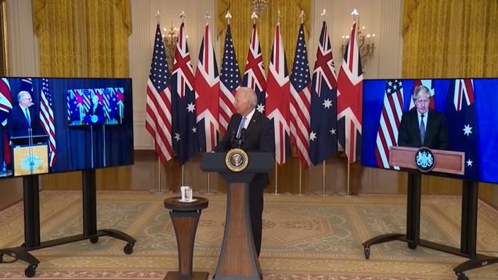 'That fella down under': Joe Biden forgets Scott Morrison's name during Aukus announcement