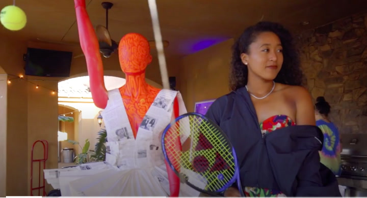 How Naomi Osaka Helped Turn Tennis Balls Into Art