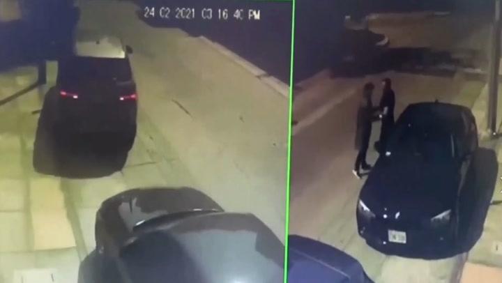 Delincuentes a bordo de lujosa camioneta roban el auto de un hombre en Surco