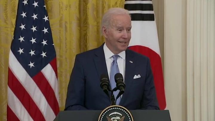 President Biden hints he's a K-pop fan following meeting with South Korean president