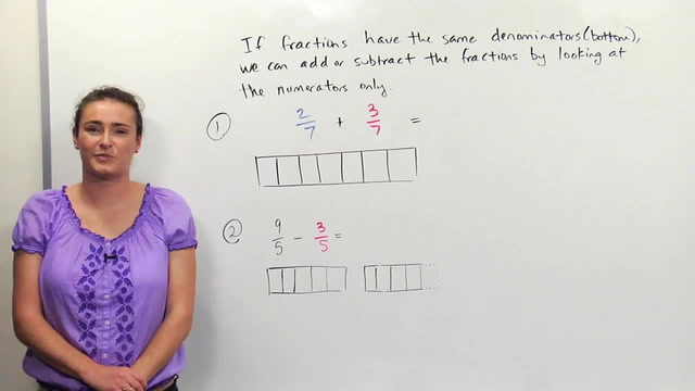 Adding/Subtracting Fractions- Like Denominators