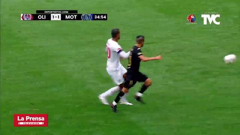 Josué Villafrancia y su gol que le dio el empate parcial al Motagua ante Olimpia