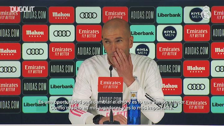 Zinedine Zidane: 'Confío mucho en mis jugadores'