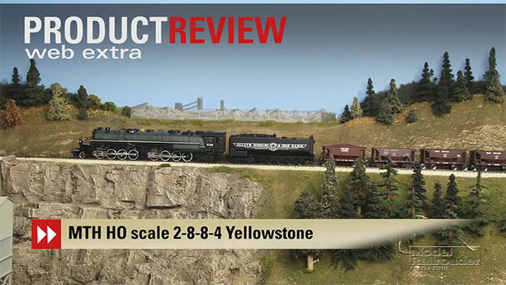 video: mth ho scale dmir 2-8-8-4 yellowstone steam locomotive |  modelrailroadervideoplus com