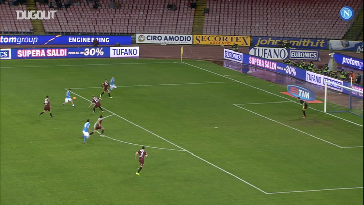 SSC Napoli's top three goals against FC Torino at the Stadio San Paolo